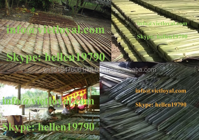 Cheap artificial UV-resistant fireproof resort /zoo/ tiki hut /palm leaf roof
