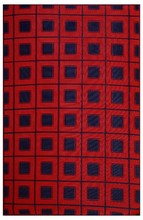 RED & BLUE CHECK PLASTIC MAT FOR NEW DECORATION