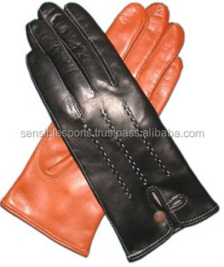 Ladies leather fashion gloves, Italian leather gloves