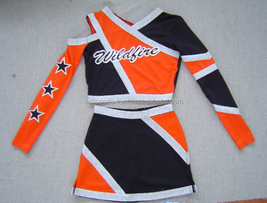 cheerleader uniforms with customized sizes and logos