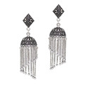 Jaipur Mart Wholesale Oxidised Earrings Silver Plated Jewelry Indian Traditional Design Chandelier Earring for Women & Girls