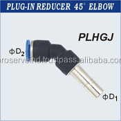 Industrial Plug In Pneumatic Reducer 45 Degree Elbow