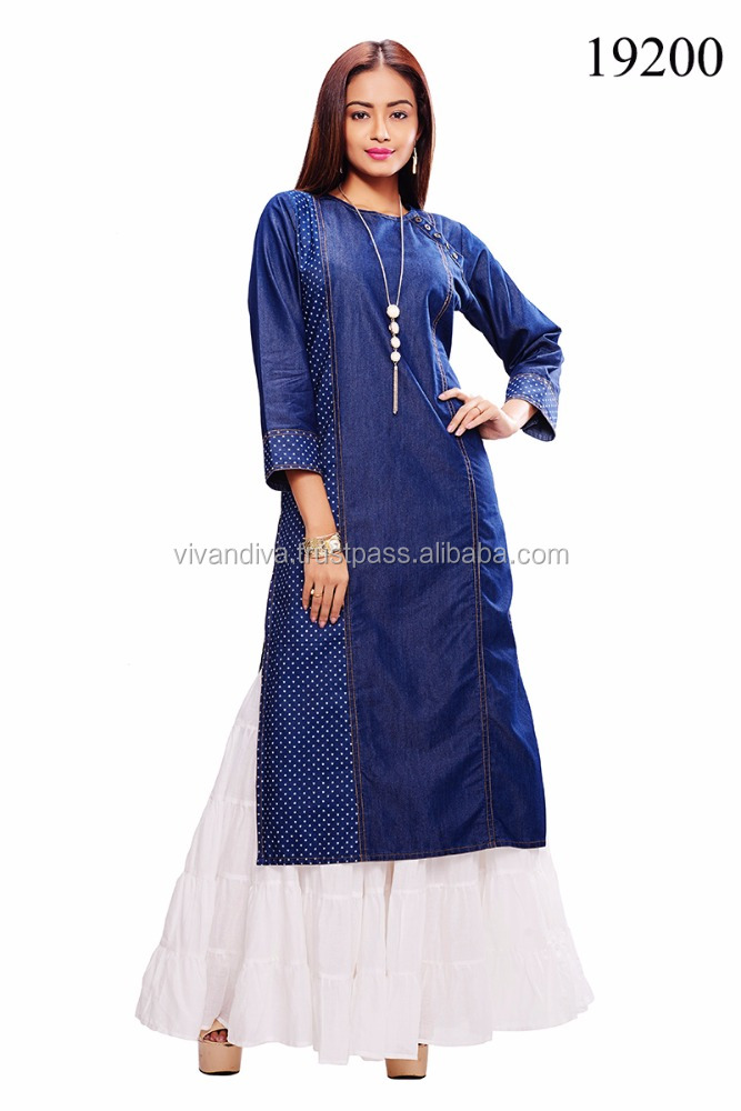 Indian Designer Kurti / Tunic For Winter / Indian Ethnic Wear Kurti.