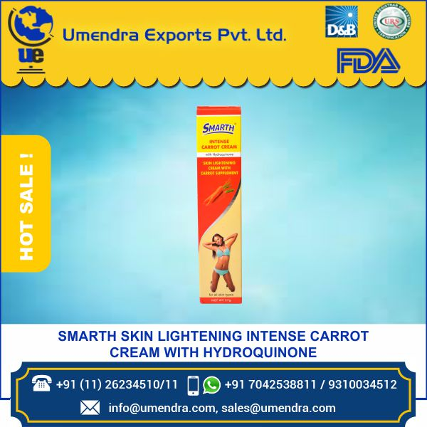 Smarth Skin Lightening Flavour Carrot Cream With Hydroquinone