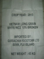 VIETNAMESE LONG GRAIN WHITE RICE 15% BROKEN