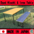 Fashionable Dyed Hinoki Wood and Iron Dining Table Made in Japan