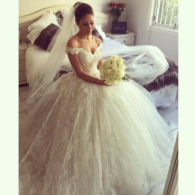 Yasa 5089 sexy see through bridal dress satin puffy dress wedding 10 210g junglespirit Images