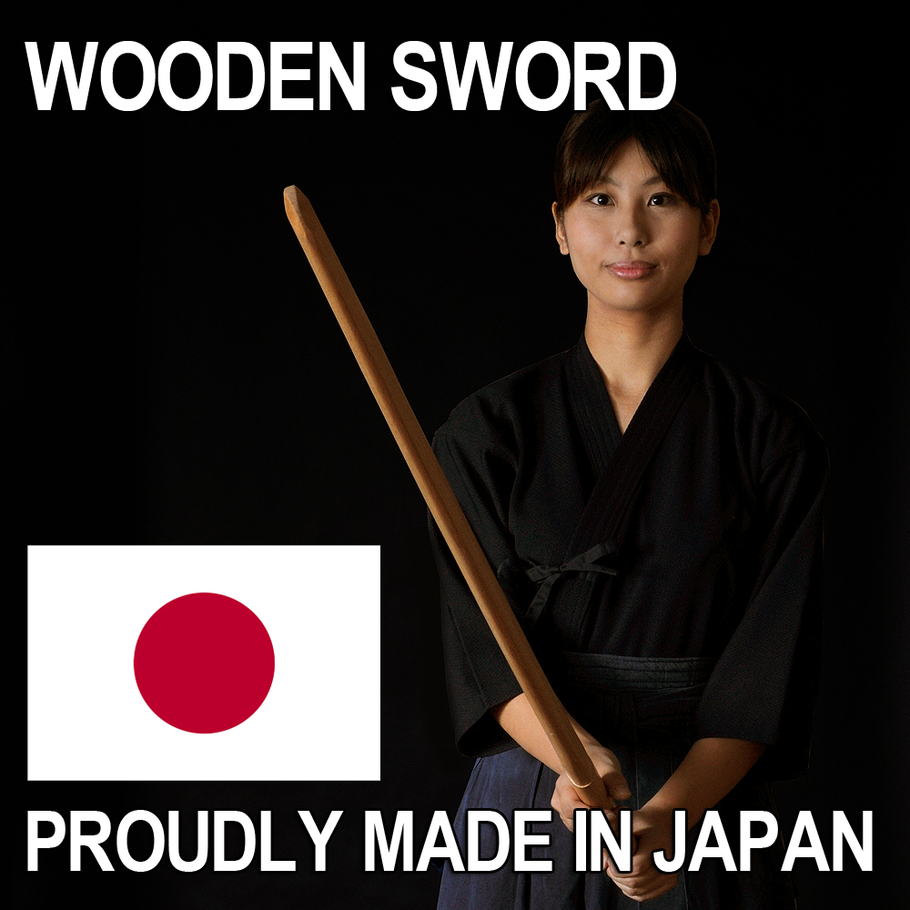Reliable and One piece of wood samurai armor wooden sword with Distylium racemosum wood made in Japan