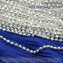wholesale Thailand 925 sterling silver chain factory, Ball diamond cut chainin gram or meter