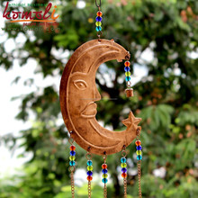 Sun elephant wind chimes iron art for home & garden decoration