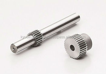 Ground spur pinion gear shaft Module 0.8 Chromium molybdenum steel Made in Japan KG STOCK GEARS