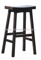 Wooden bar stool 29'', modern solid wood chair, upholstered stool