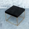 Side Table Burnt Wood with Clear Cast