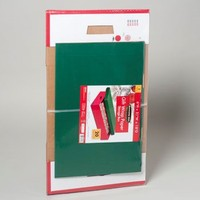 STORAGE BOX 1 PK GIFTWRAP PAPER RED AND GREEN *4.99 #64982