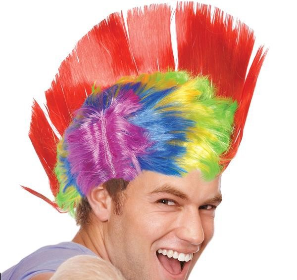 RAINBOW LIGHT-UP MOHAWK WIG