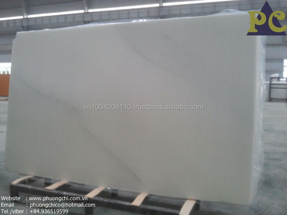 Fine grain white marble with black veins slab