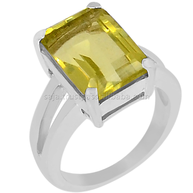 Lemon Topaz stone, Lemon Topaz ring, Lemon topaz stone 925 silver ring R-5121