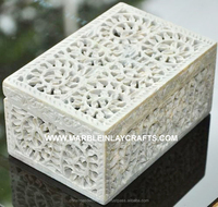 Soapstone Carving Box Handcrafted Item