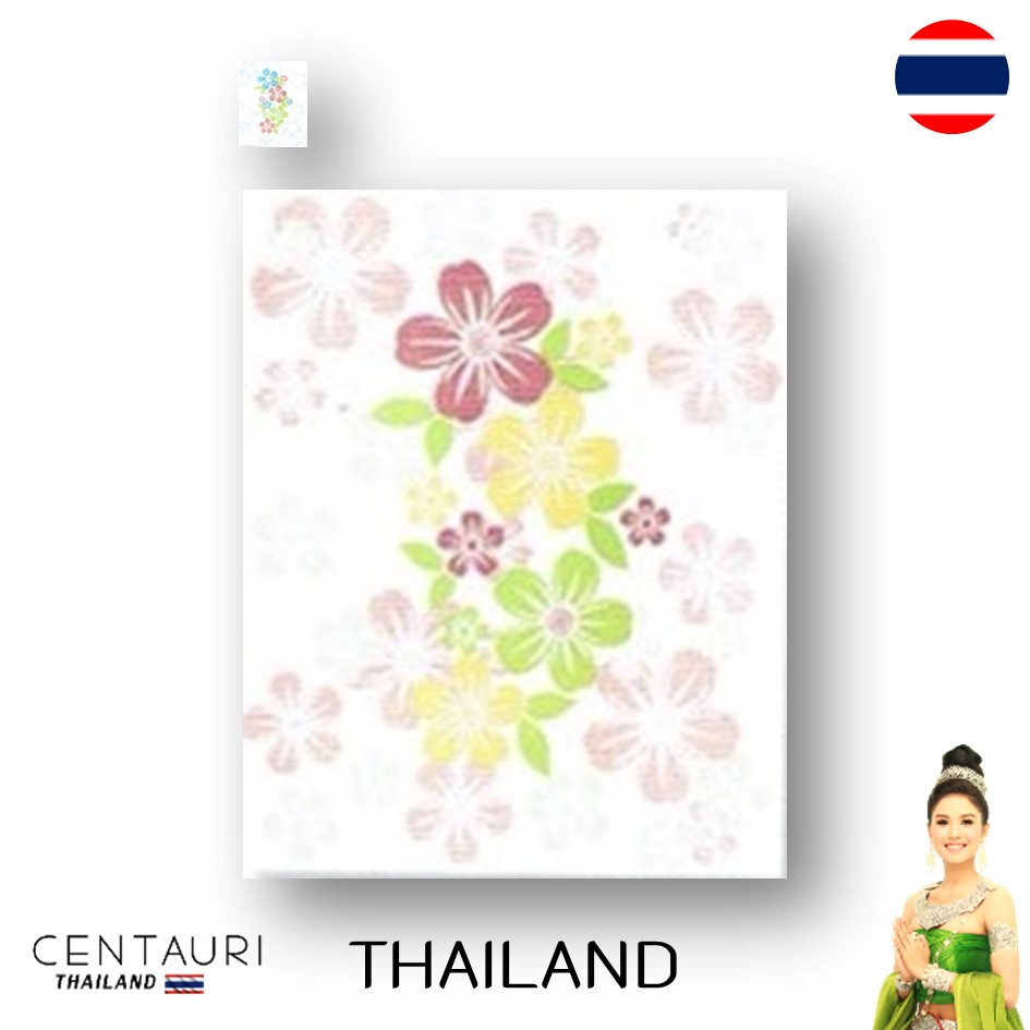 glazed 20*25 cm early blue pink yellow white flower pattern Thai porcelain interior tile 200*250 mm new smooth design tile