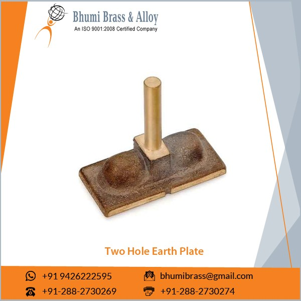 Anti-Corrosive Easy to Maintain Two Hole Earth Plate for Earthing System