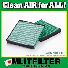 Antibacteria & deodorization automotive cabin filter , made in Japan