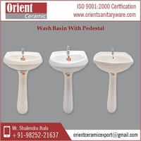 2015 Design New Model Wash Basin Price with Pedestal