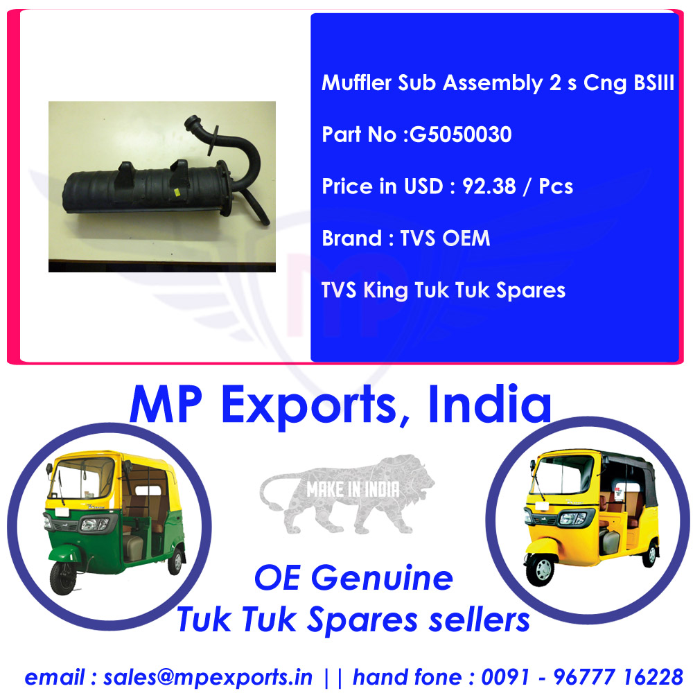 Tvs Muffler Sup Assembly 2 s Cng BSIII Tuk tuk Spares