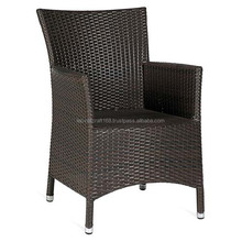 High quality best selling Black wicker PE chair with iron frame from Vietnam