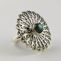 Moonlight Majesty !! Blue Fire Labradorite 925 Sterling Silver Ring, Natural Semi Precious Gemstone Jewelry, Sterling Rings
