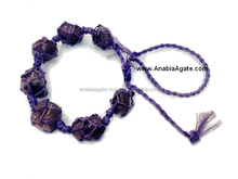 Amethyst Netted Tumble Gemstone Bracelet With Draw-String and adjustable size
