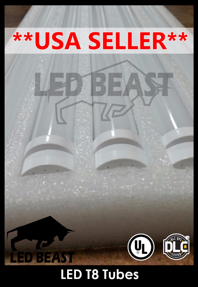 LED T8 Tube Light 18W Frosted 4ft UL DLC - USA Seller