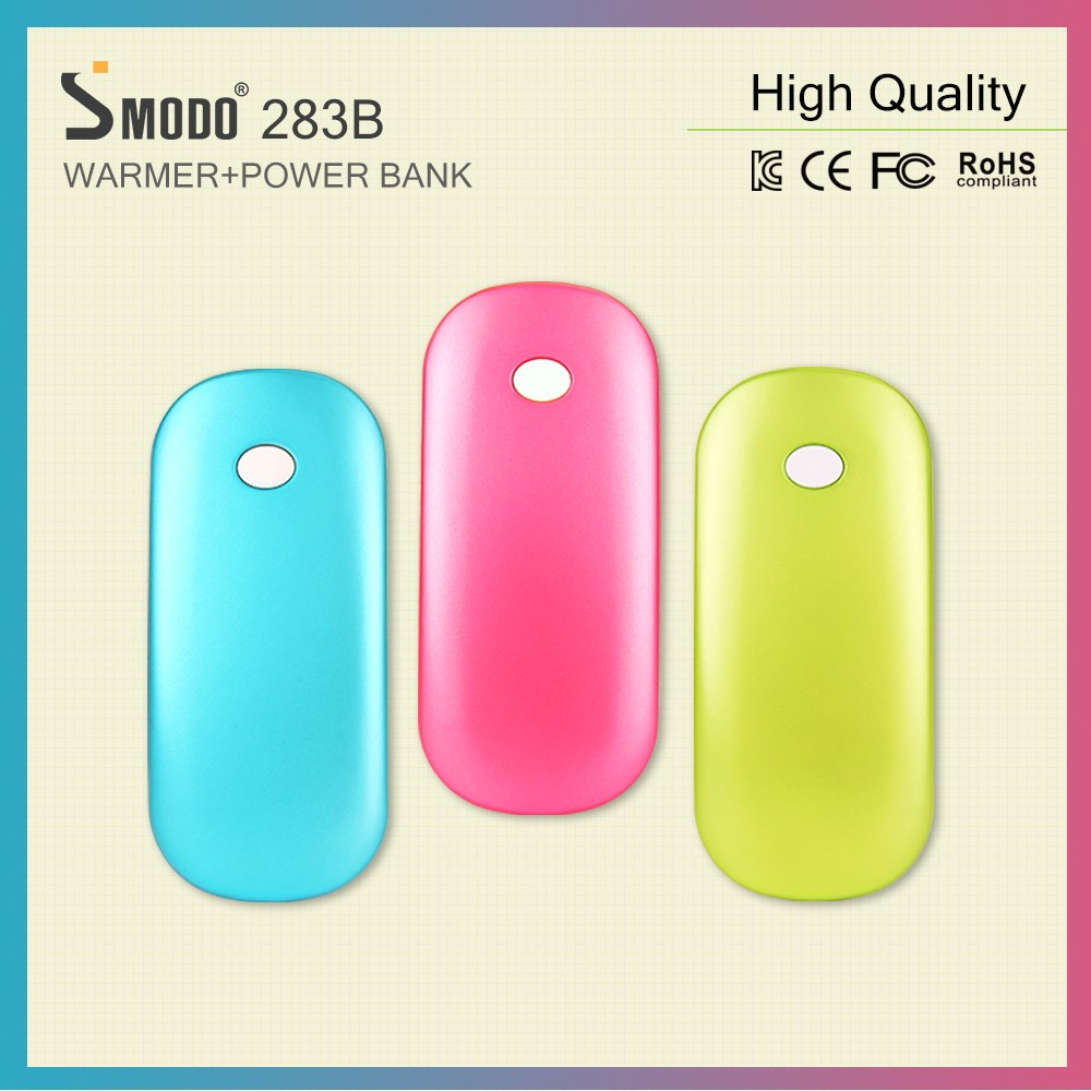 2017 Hot Sale Warmer Portable battery hand warmer cell phone charger