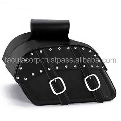 LEATHER SADDLE BAGS suitable for CRUISER SPORTSTER MOTORCYCLE FC-34091