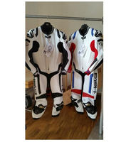 New Latest Style Racing Leather Motorcycle Red/Blue/Black One Piece Suit Size Extra Large