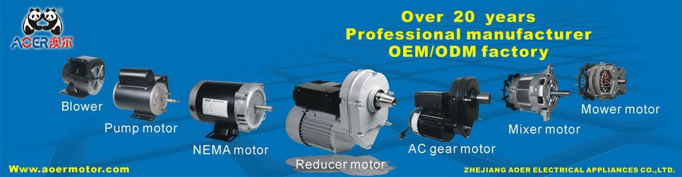 single phase ac asynchronous grass trimmer electrical motor