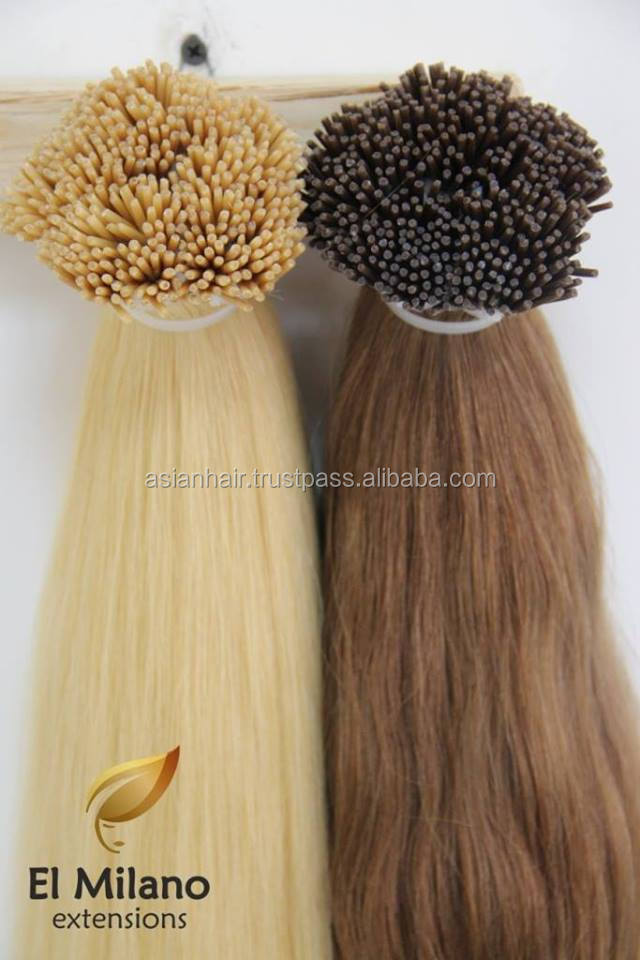 Best Selling!!! Wholesale No Tangle No Shedding Unprocessed Remy I/Stick Tip Hair Keratin