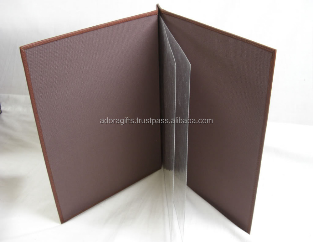 Leather Menu Cover / Wine List / Leather Menu Holder For Promotional