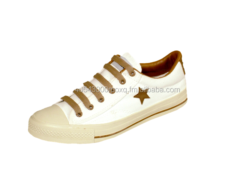 MASHARE M55 - PLAIN WITH LONE STAR DESIGN LACE-UP CANVAS LOW CUT SHOES FOR MEN AND WOMEN 2016