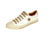 MASHARE M55 - PLAIN WITH LONE STAR DESIGN LACE-UP CANVAS LOW CUT SHOES FOR MEN AND WOMEN