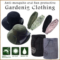 Fashionable and Comfortable repellent insect sun protective clothing for everyday use , hats, arm sleeves and aprons available
