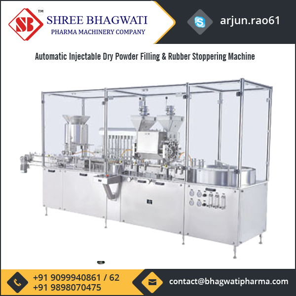 Automatic Injectable Dry Powder Filling With Vial Liquid Filling & Rubber Stoppering Machine