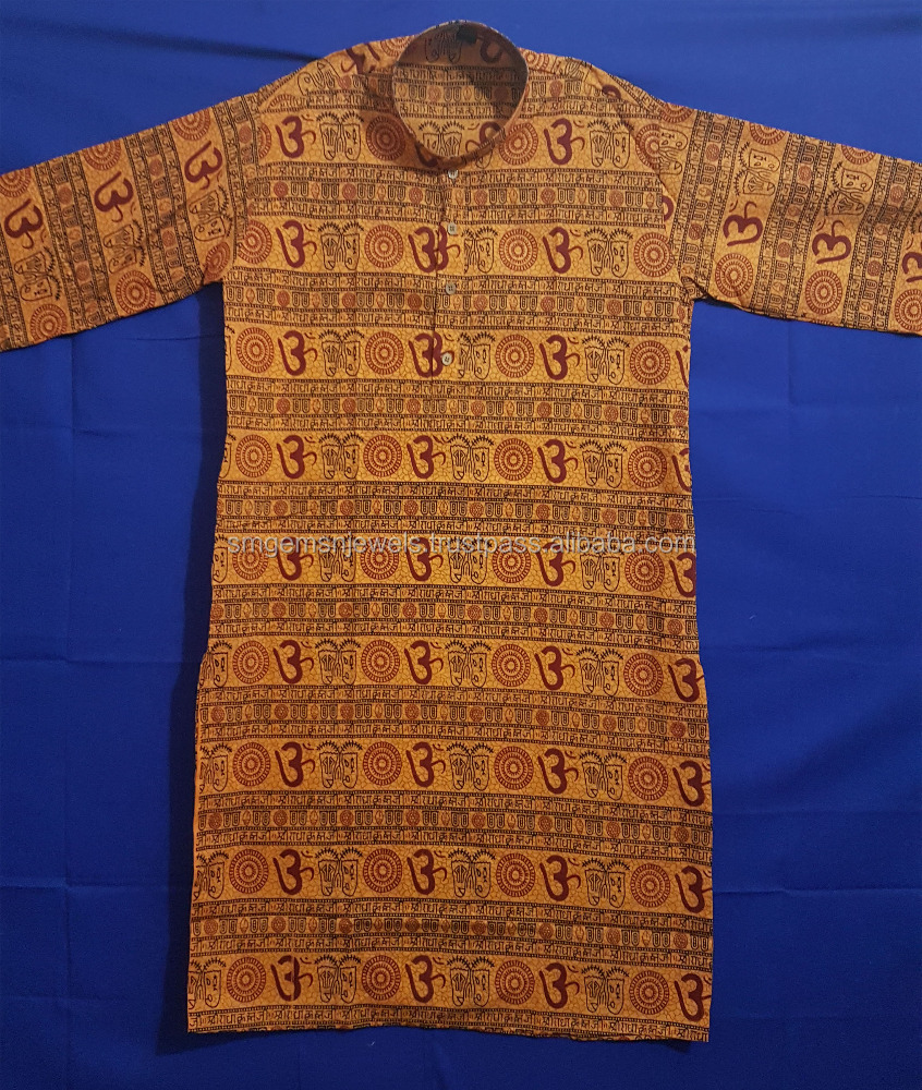 Om Long Printed Kurta