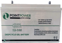 POINT POWER VRLA 12V 100AH DEEPCYCLE GEL BATTERY