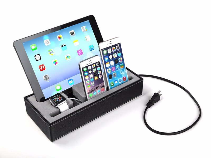 4 in 1 Multi Device Organizer Charging Station Dock for Apple Watch Stand and Iphone iPad