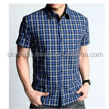 plaid men dress shirt manufacturers