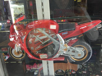 Decorative motorcycle alarm clock