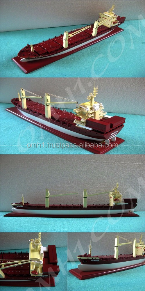 MV Athens Painted (L55) Wooden Model Cargo ship