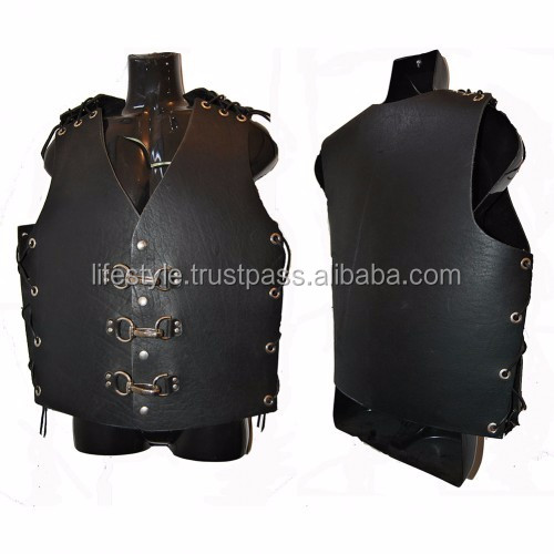costume leather vest patchwork leather vest leather down vest men leather biker vest motorcycle leather vest