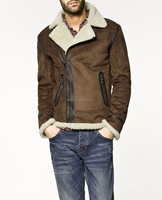 Hot Sale Fashion Men Clothing Jackets Overcoat Winter PU Leather Joint