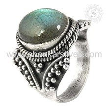 Best Promotion Labradorite Ring Handmade Online Silver Ring Manufacturing 925 Silver Jewelry India